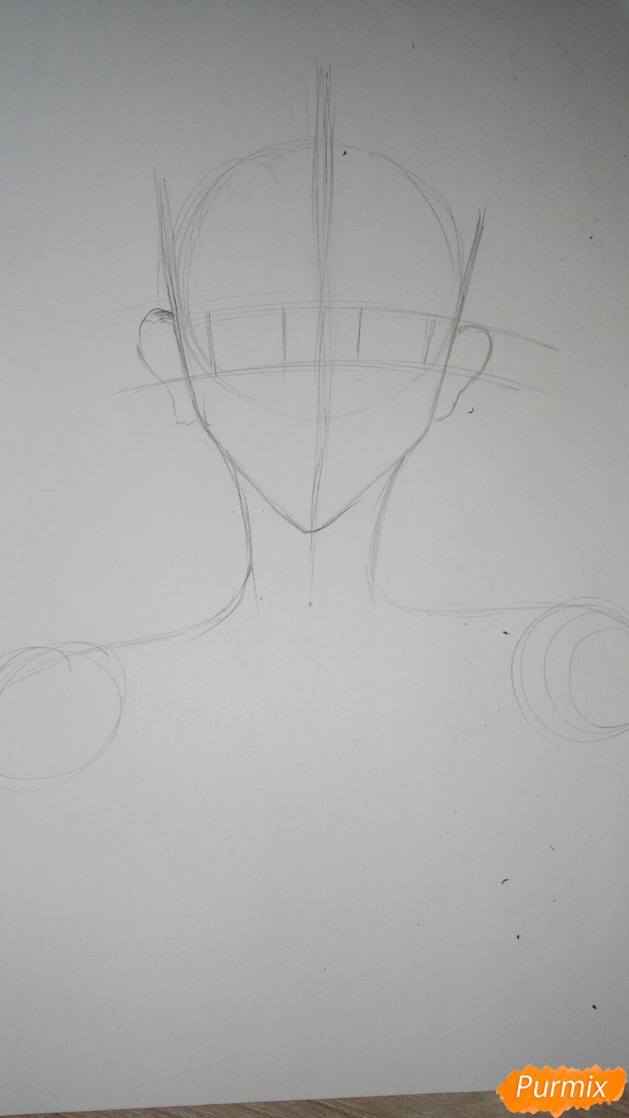 Учимся рисовать милого куна карандашами - шаг 3