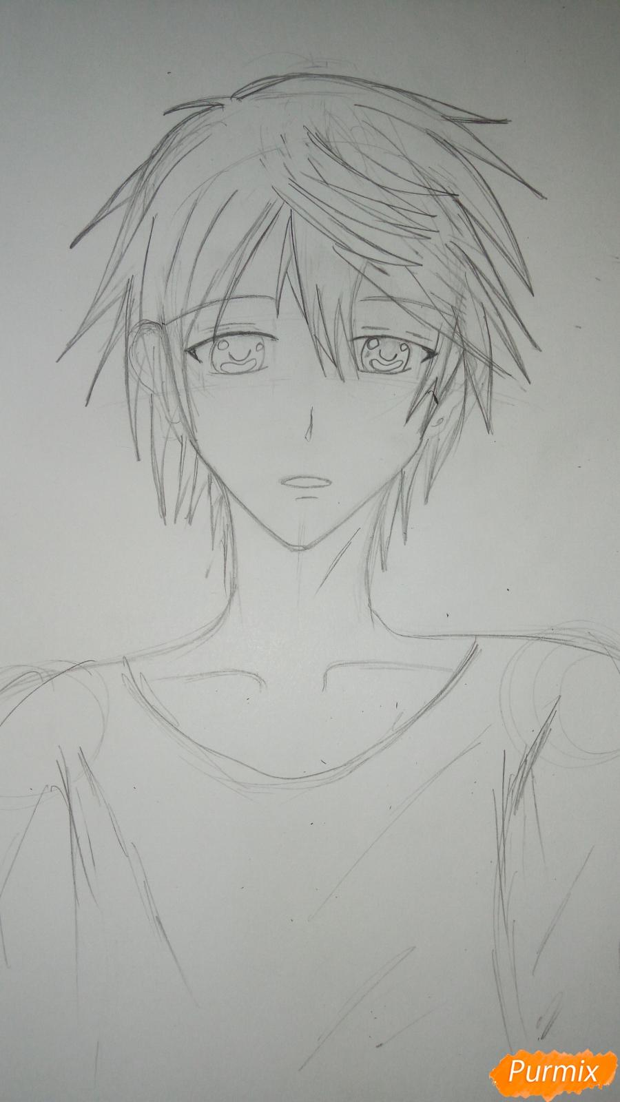Учимся рисовать милого куна карандашами - шаг 6