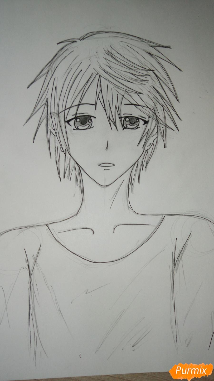 Учимся рисовать милого куна карандашами - шаг 7