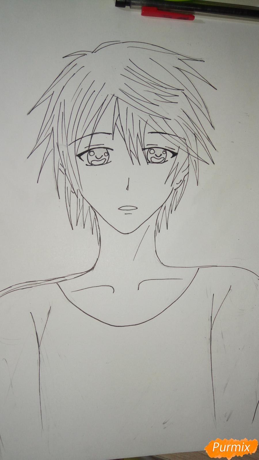 Учимся рисовать милого куна карандашами - шаг 8