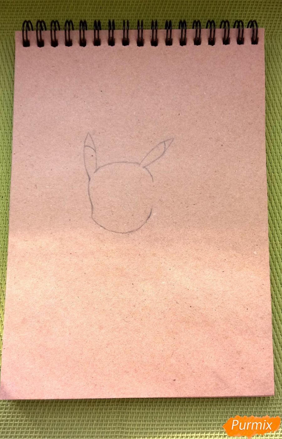 Рисуем падающего Пикачу - шаг 1