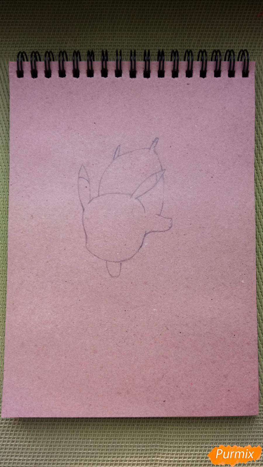 Рисуем падающего Пикачу - шаг 2