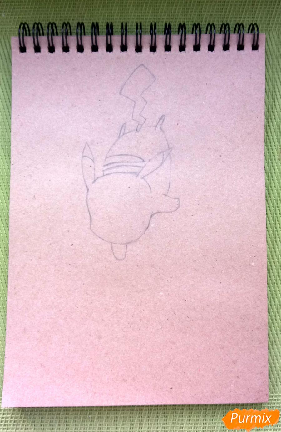 Рисуем падающего Пикачу - шаг 3