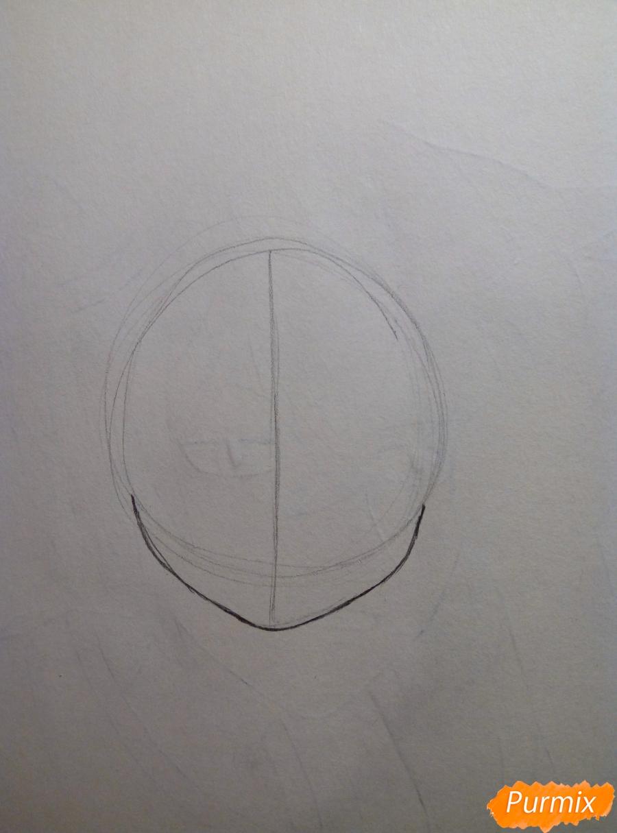 Рисуем портрет Рем простыми карандашами - шаг 1