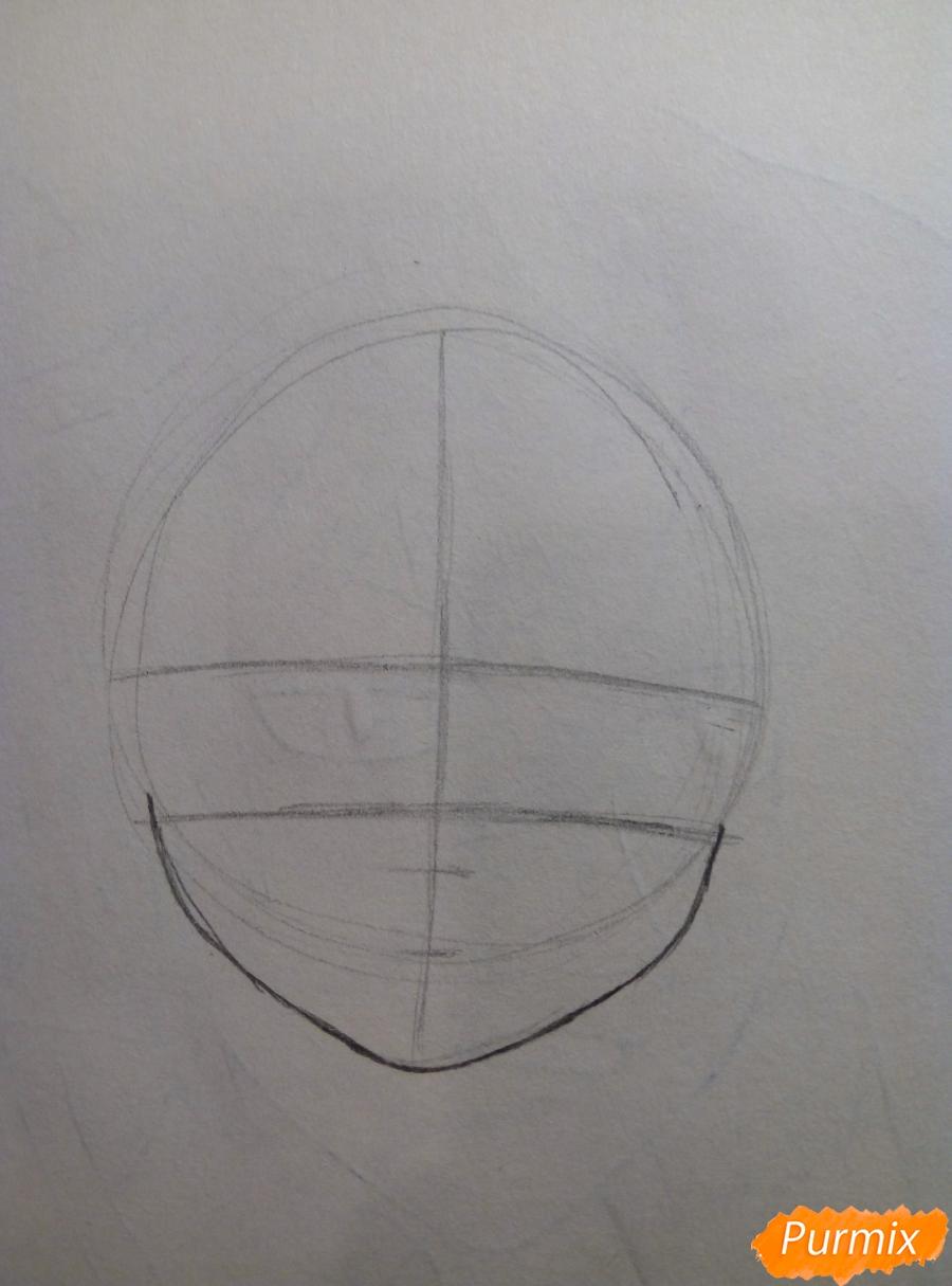 Рисуем портрет Рем простыми карандашами - шаг 2