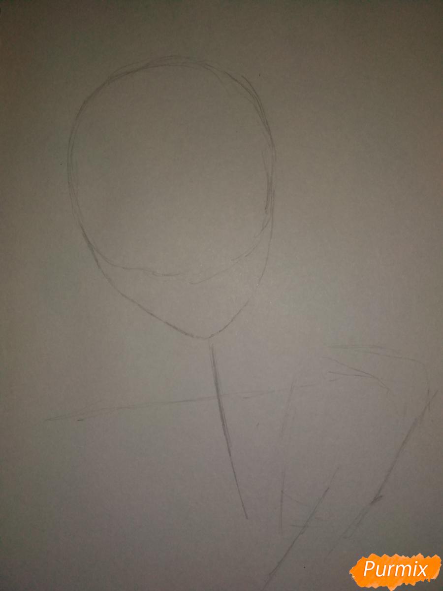Рисуем портрет Сето Тодороки - шаг 1