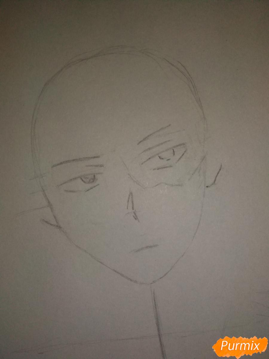 Рисуем портрет Сето Тодороки - шаг 3