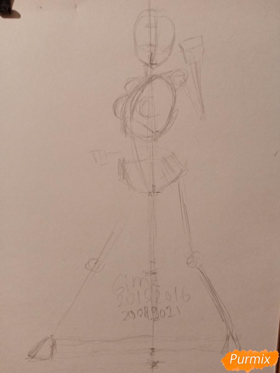 Рисуем Сакуру Харуно в полный рост - шаг 1