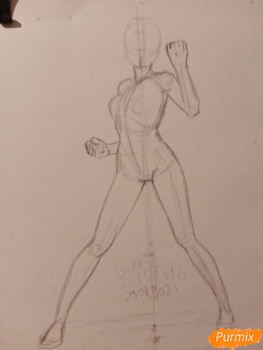 Рисуем Сакуру Харуно в полный рост - шаг 2