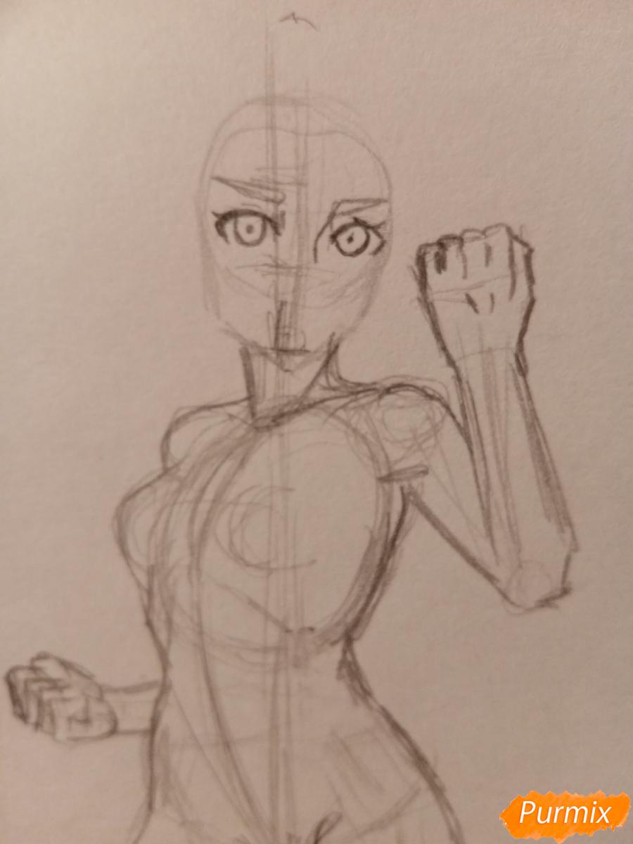 Рисуем Сакуру Харуно в полный рост - шаг 3
