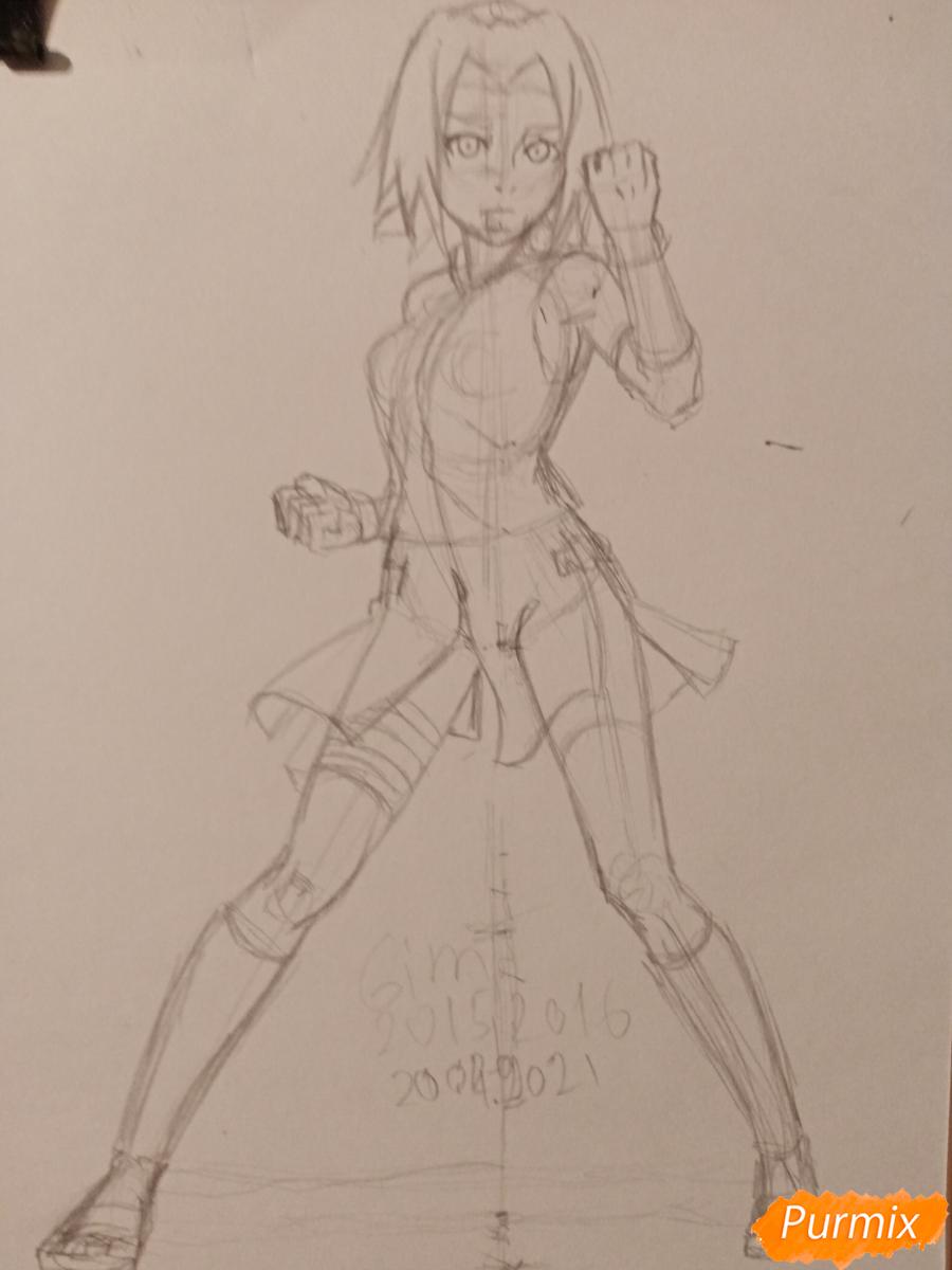 Рисуем Сакуру Харуно в полный рост - шаг 5