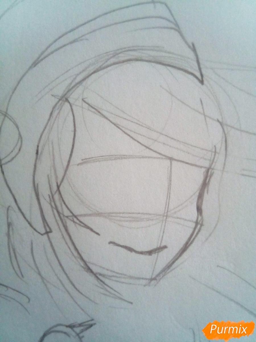 Рисуем Тоф Бейфонг цветными карандашами - шаг 2