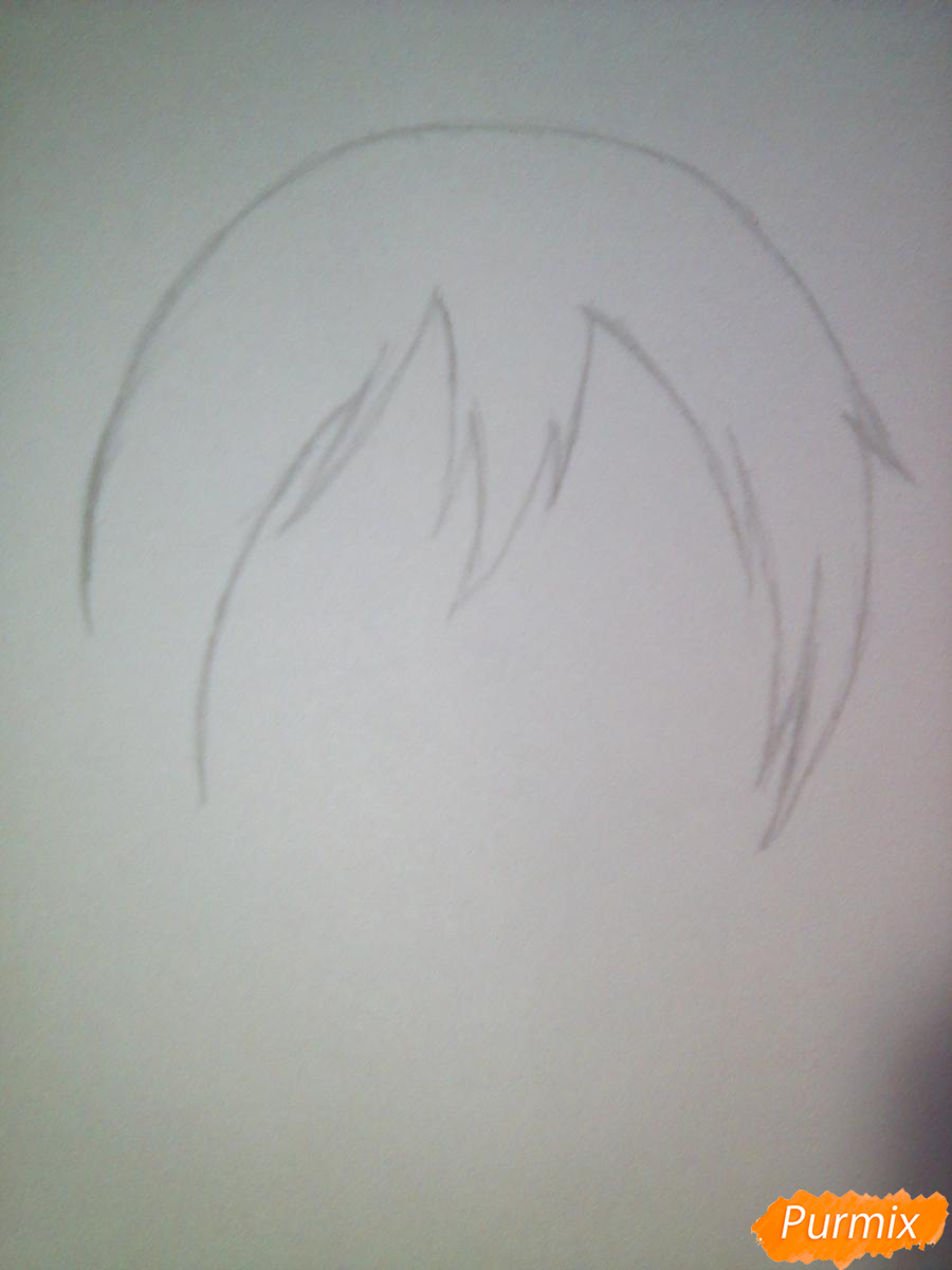 Рисуем улыбающегося Ято - шаг 1