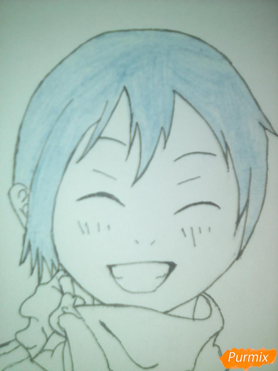 Рисуем улыбающегося Ято - шаг 10