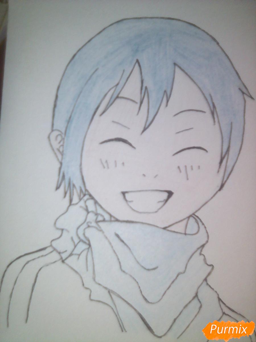Рисуем улыбающегося Ято - шаг 12