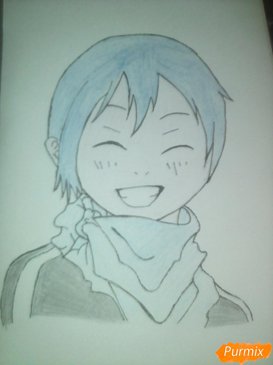 Рисуем улыбающегося Ято - шаг 13