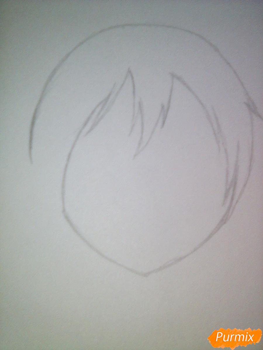 Рисуем улыбающегося Ято - шаг 2
