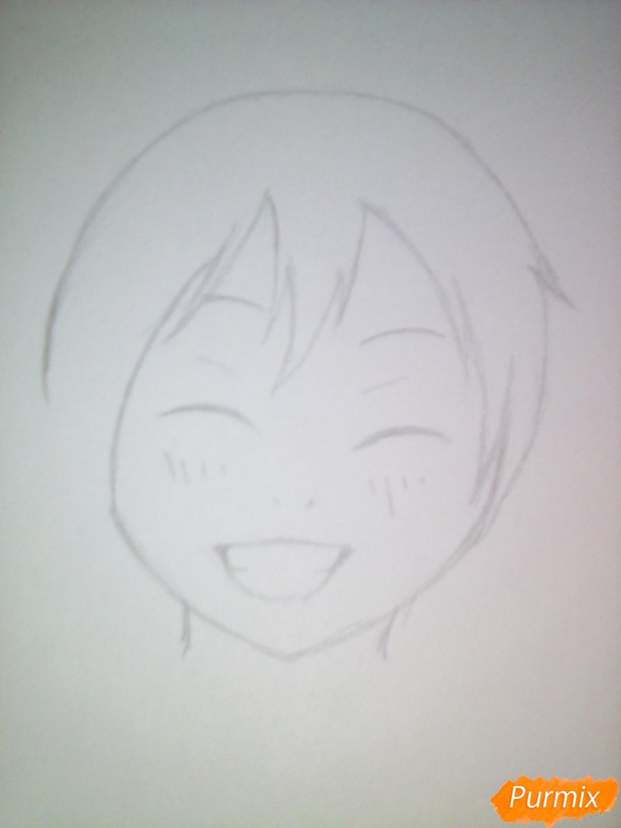 Рисуем улыбающегося Ято - шаг 3