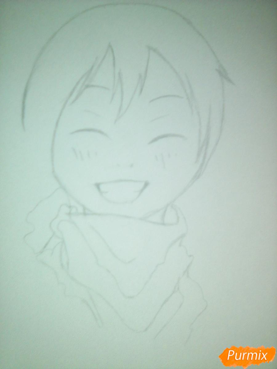 Рисуем улыбающегося Ято - шаг 5