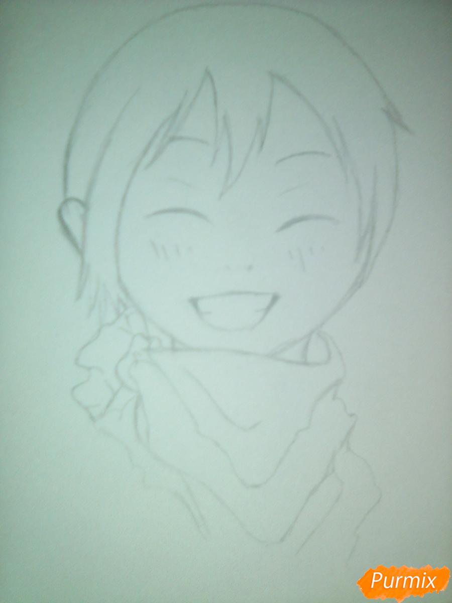 Рисуем улыбающегося Ято - шаг 6