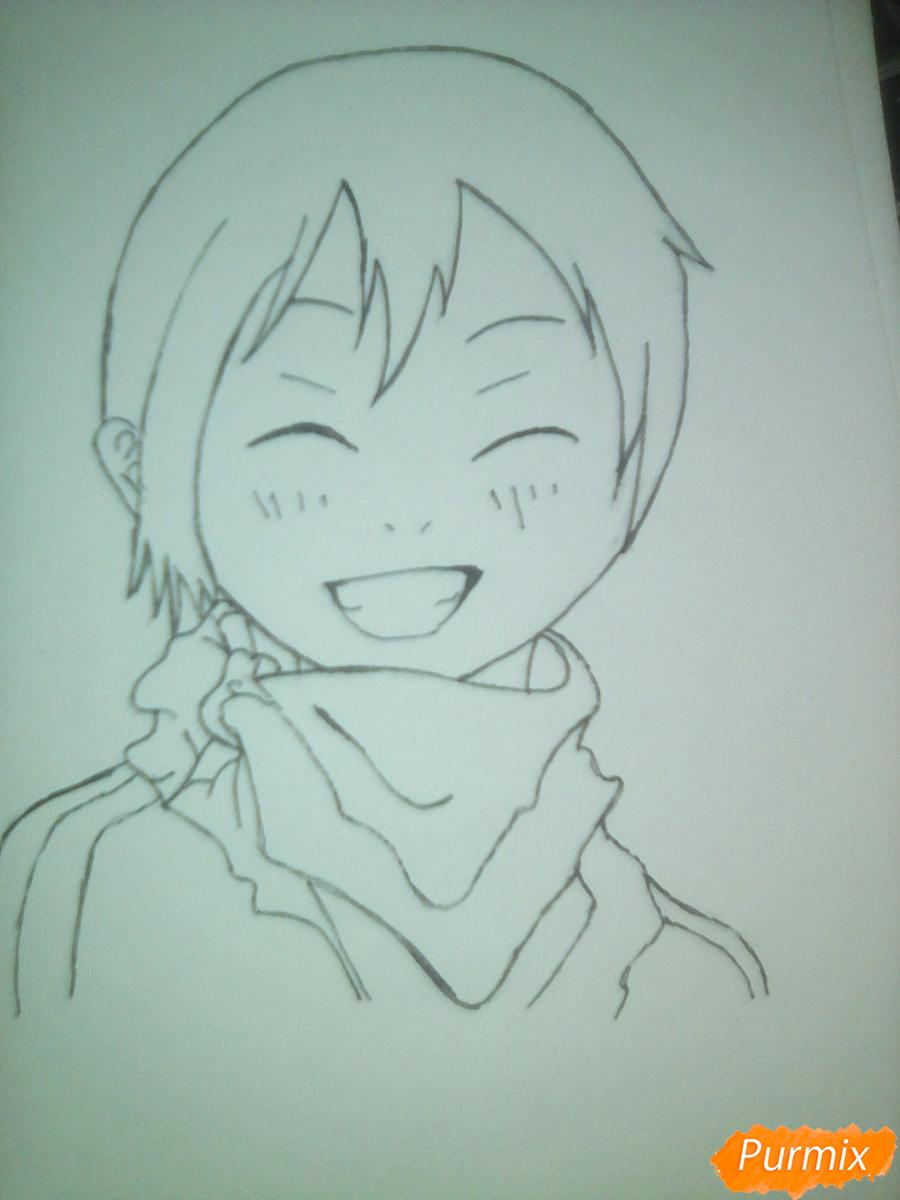 Рисуем улыбающегося Ято - шаг 9