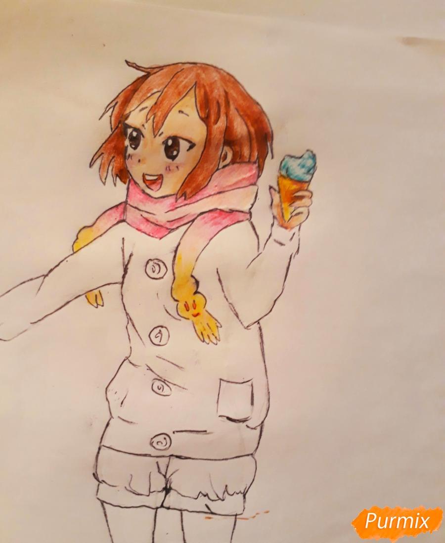 Рисуем Юи и Адзусу из аниме K-on карандашами - шаг 13