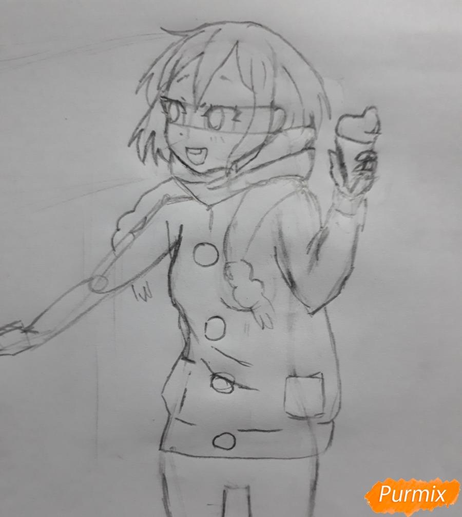 Рисуем Юи и Адзусу из аниме K-on карандашами - шаг 7
