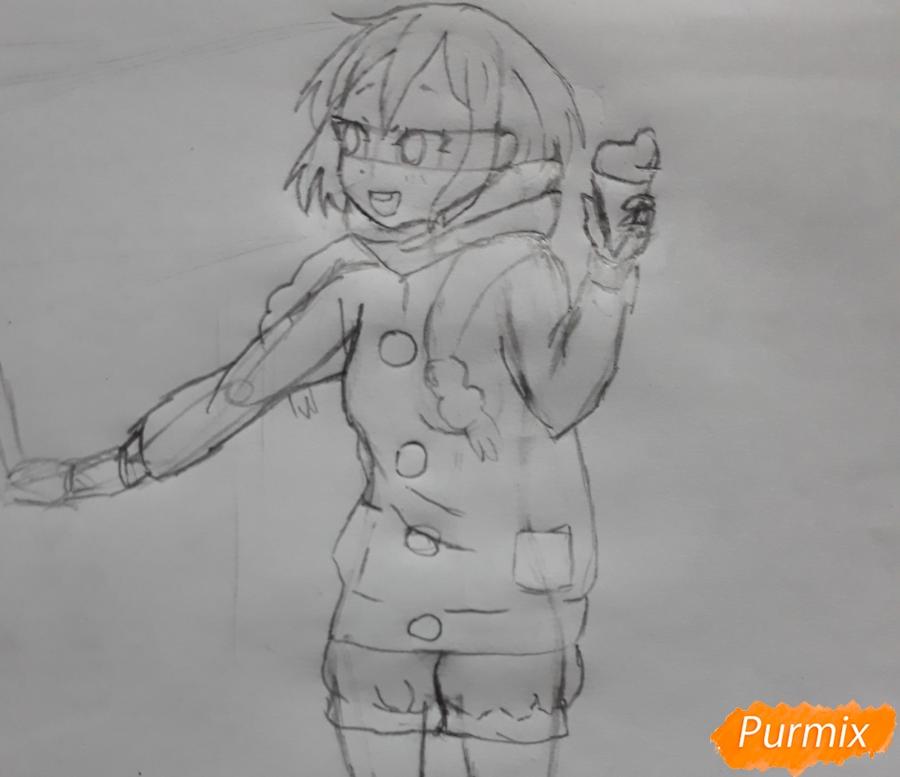 Рисуем Юи и Адзусу из аниме K-on карандашами - шаг 8