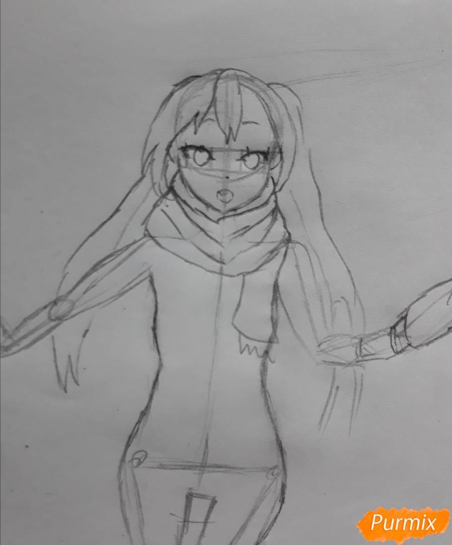 Рисуем Юи и Адзусу из аниме K-on карандашами - шаг 9