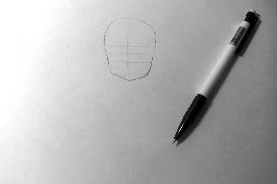 Рисуем и раскрашиваем аниме девушку с чашкой чая - шаг 1