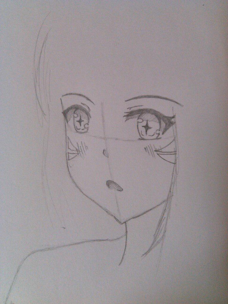 Рисуем и раскрашивает девушку кошку в стиле аниме - шаг 3