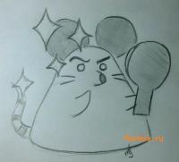 Рисуем Тю-Таро из аниме Неуловимая воровка Рейня