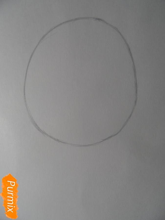 Учимся рисовать девочку Чиби в виде зверька - шаг 1