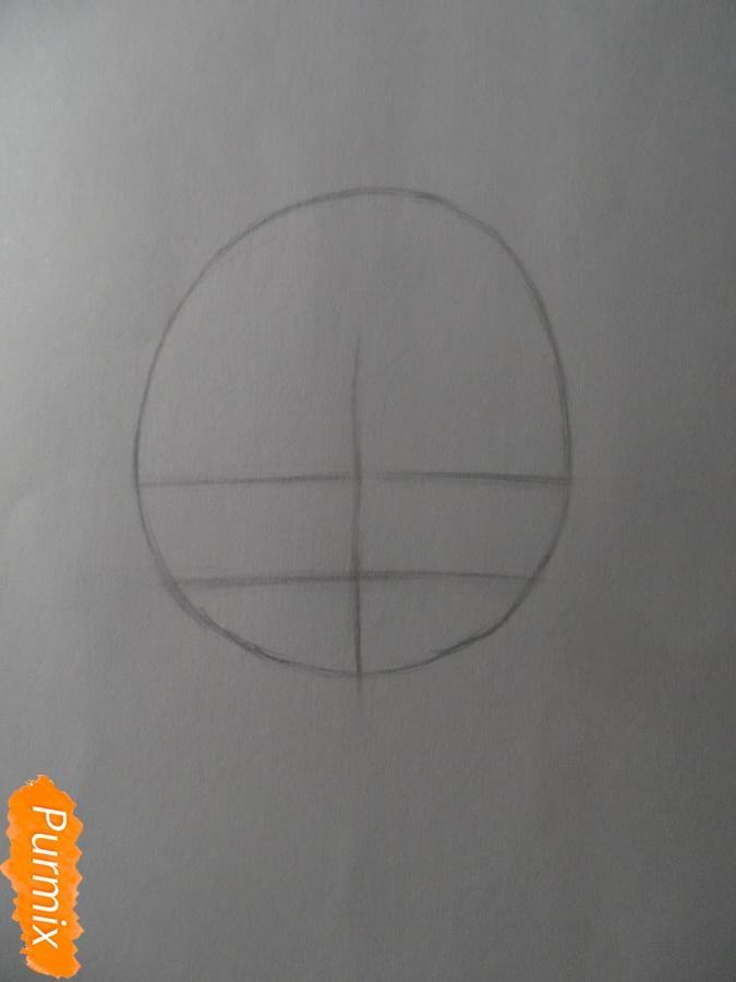 Учимся рисовать девочку Чиби в виде зверька - шаг 2