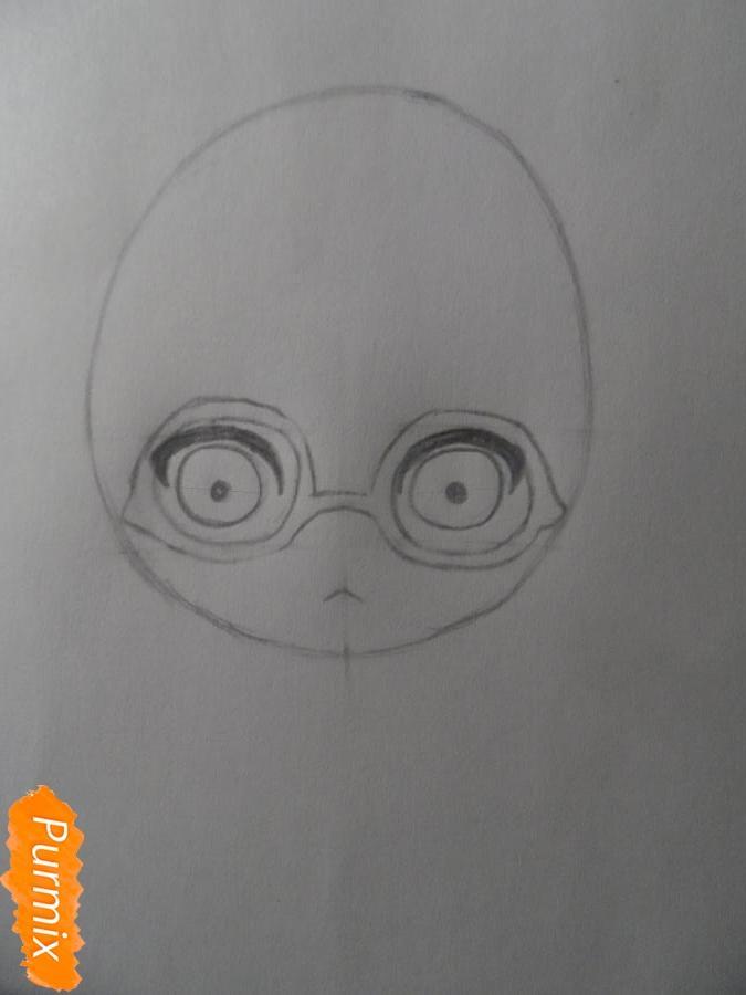 Учимся рисовать девочку Чиби в виде зверька - шаг 3