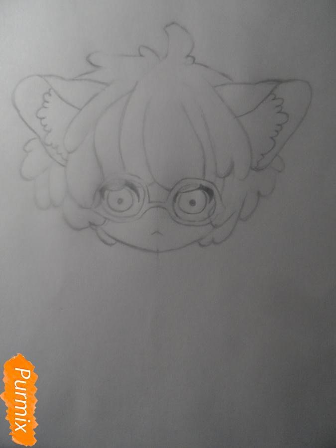 Учимся рисовать девочку Чиби в виде зверька - шаг 4