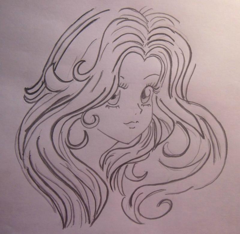 Учимся легко рисовать лицо и волосы в стиле аниме - шаг 6
