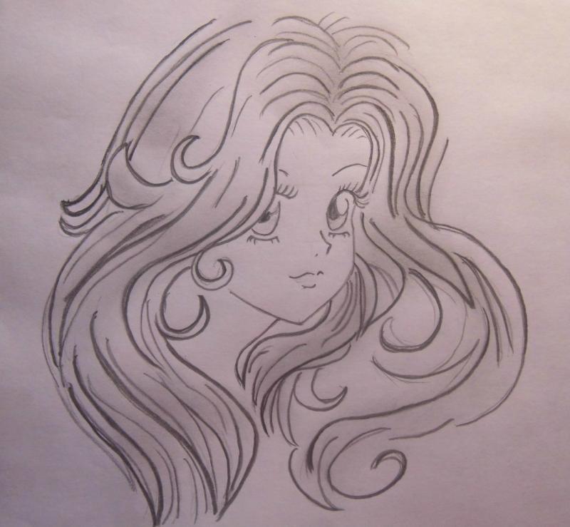 Учимся легко рисовать лицо и волосы в стиле аниме - шаг 7
