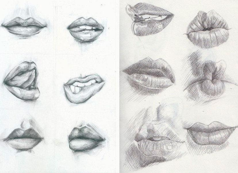 Рисуем эмоцию с помощью губ - шаг 1
