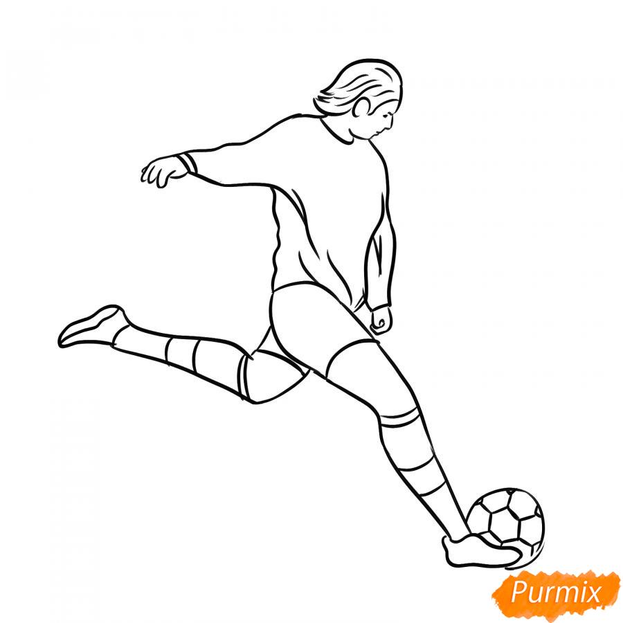 Рисуем бегущего футболиста с мячом - шаг 5