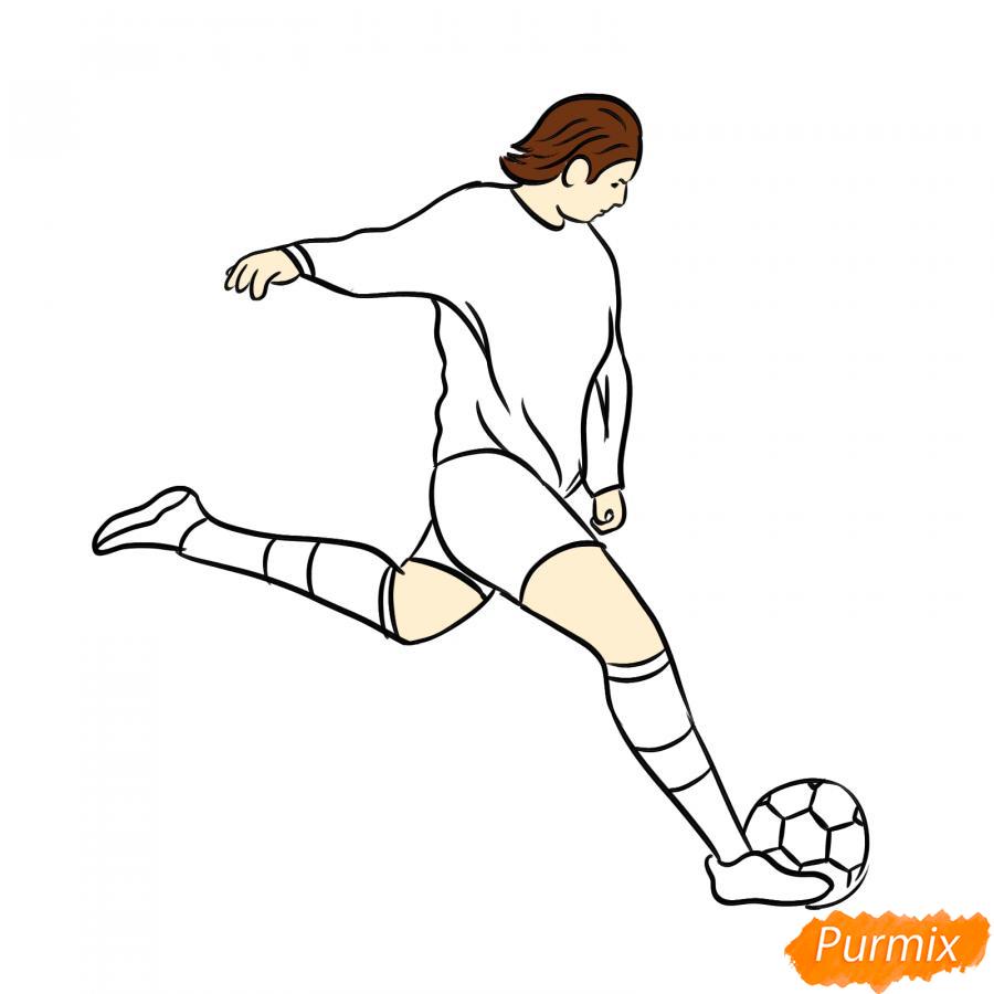 Рисуем бегущего футболиста с мячом - шаг 6