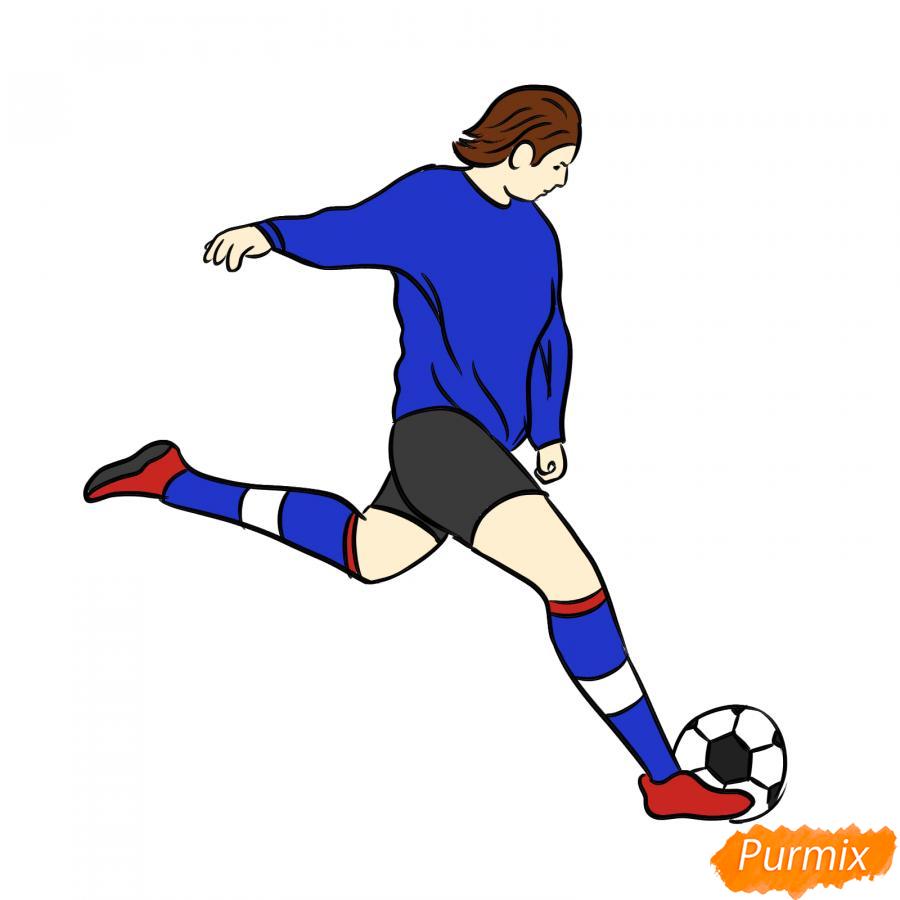 Рисуем бегущего футболиста с мячом - шаг 8