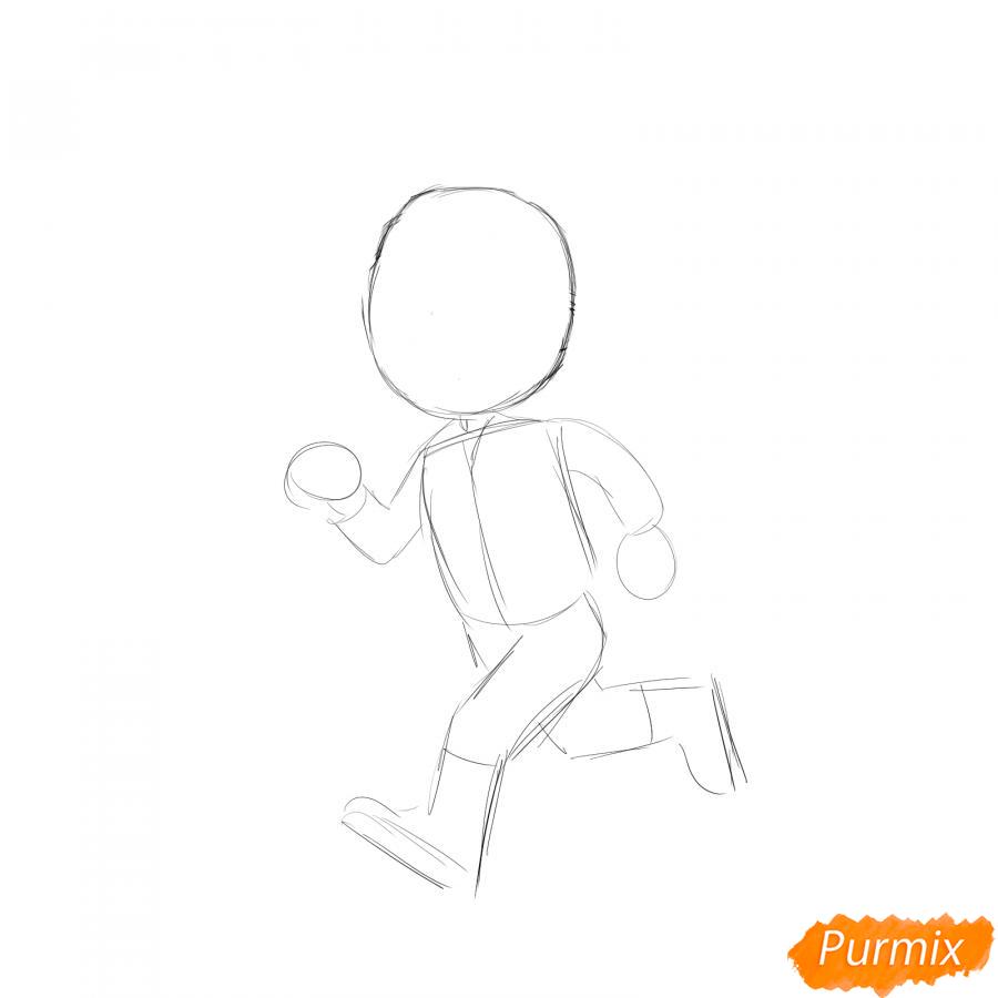 Рисуем бегущего солдата - шаг 1