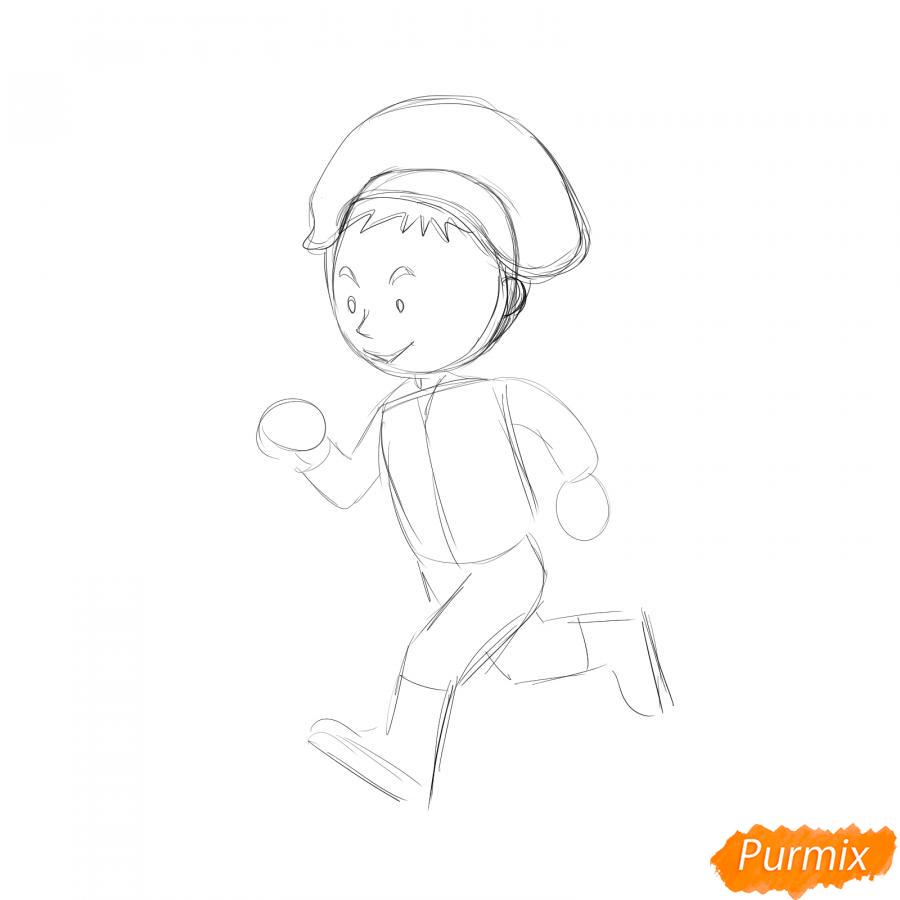 Рисуем бегущего солдата - шаг 2
