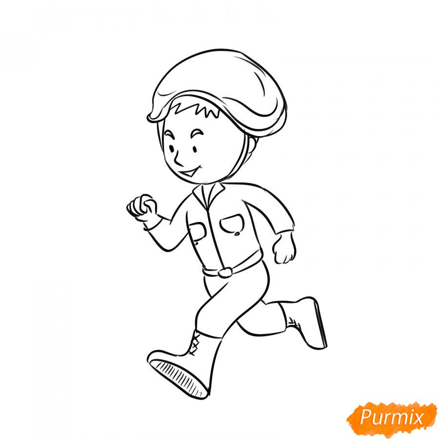 Рисуем бегущего солдата - шаг 4