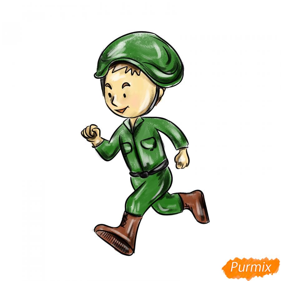 Рисуем бегущего солдата - шаг 8