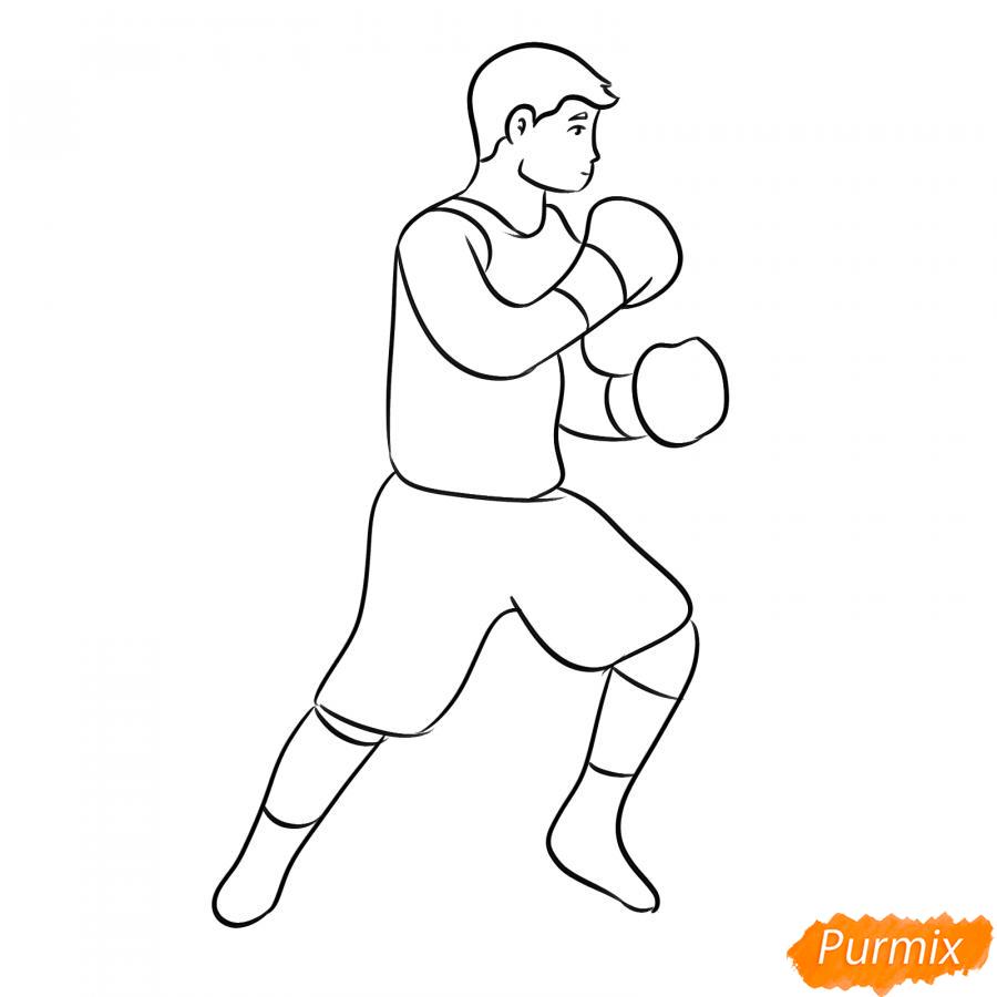 Рисуем боксера карандашами - шаг 6