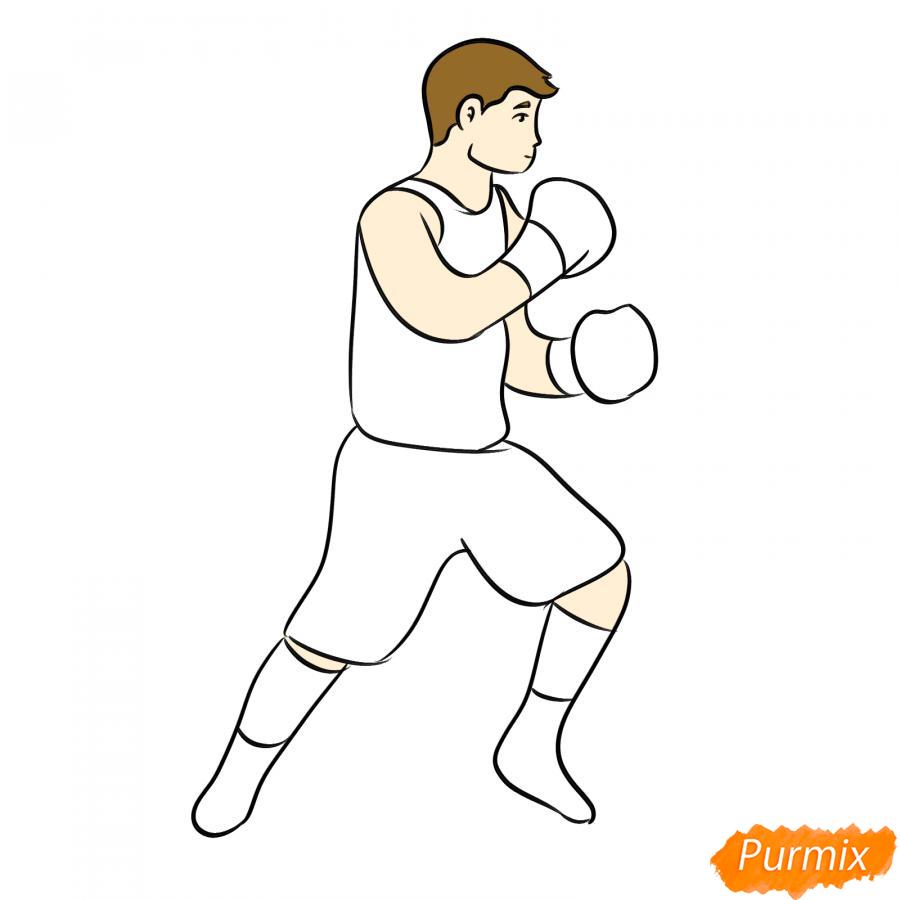 Рисуем боксера карандашами - шаг 7