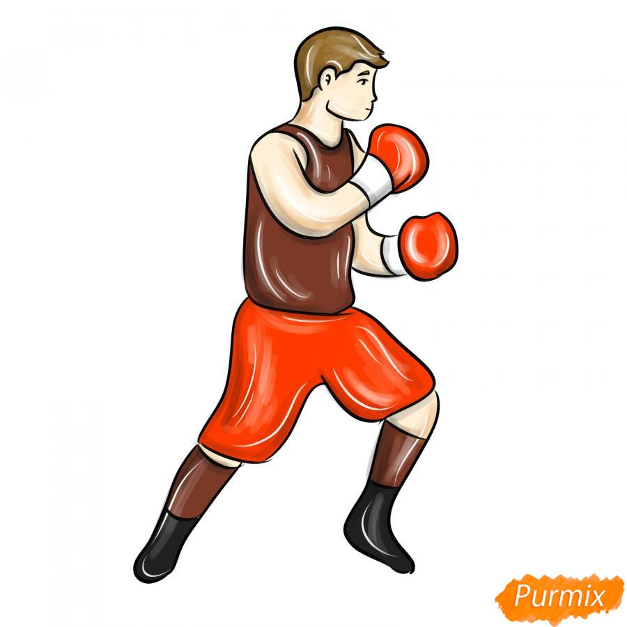 Рисуем боксера карандашами - шаг 9
