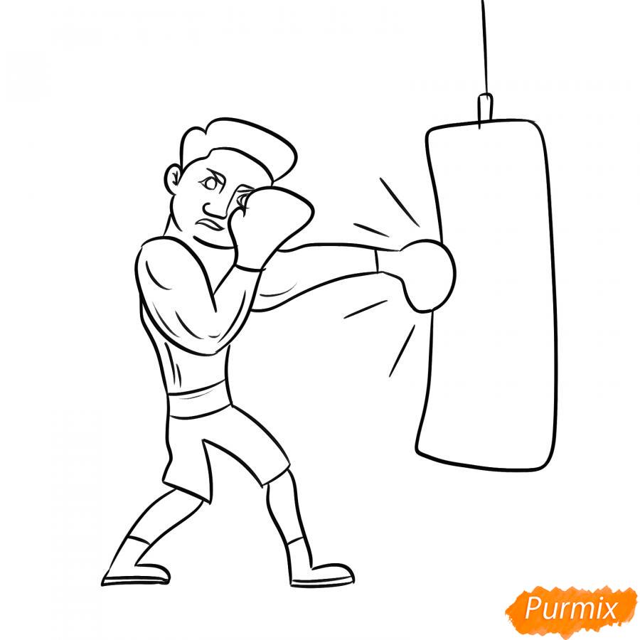 Рисуем боксера с грушей - шаг 5